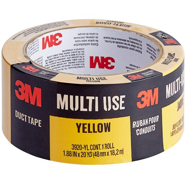 "3M 1 7/8"" x 20 Yards Yellow Multi-Use Duct Tape 3920-YL Main Image 1"
