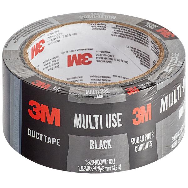 "3M 1 7/8"" x 20 Yards Black Multi-Use Duct Tape 3920-BK Main Image 1"