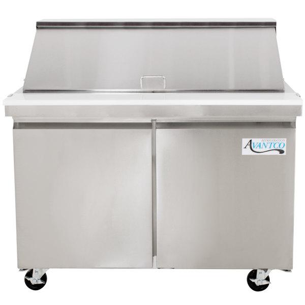 """Avantco SCLM2 48"""" 2 Door Mega Top Refrigerated Sandwich Prep Table"""