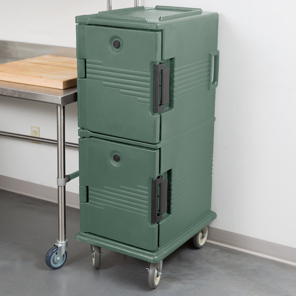 Cambro UPC800192 Granite Green Camcart Ultra Pan Carrier - Front Load