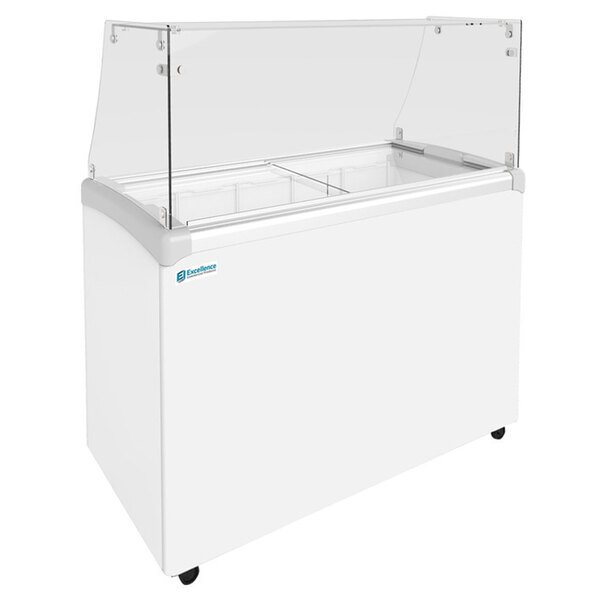"""Excellence EDC-8HC 48"""" Straight Glass Ice Cream Dipping Cabinet Main Image 1"""