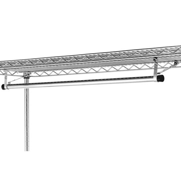 "Metro AT6024NC 60"" Garment Hanger Tube with Brackets for 24"" Wide Shelves"