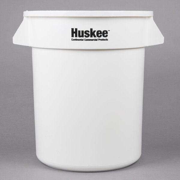 Continental 2000WH Huskee 20 Gallon White Trash Can