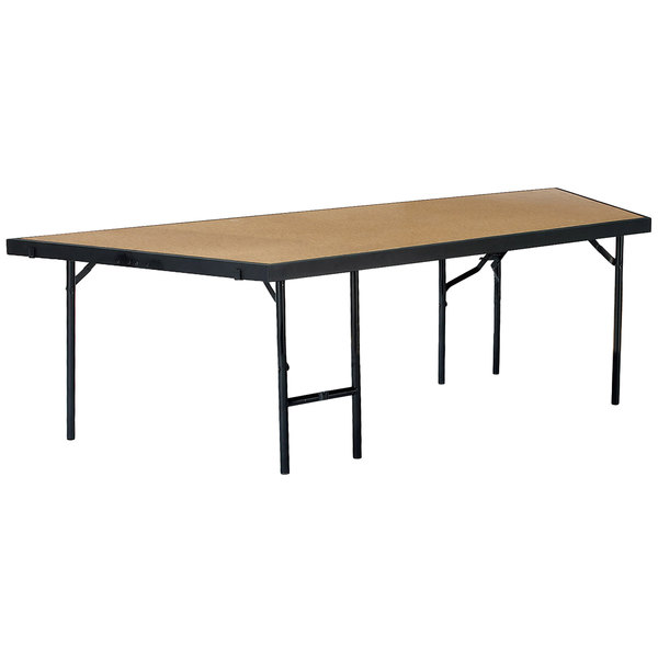 """National Public Seating SP4824HB Portable Stage Pie Unit with Hardboard Surface - 48"""" x 24"""""""