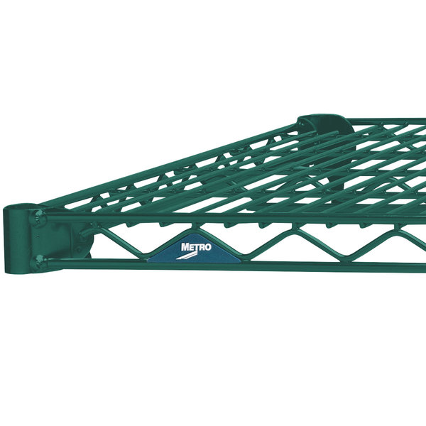 "Metro 1472N-DHG Super Erecta Hunter Green Wire Shelf - 14"" x 72"""