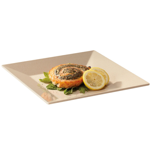 """GET BAM-1104 BambooMel 10"""" Square Plate - 12/Case"""