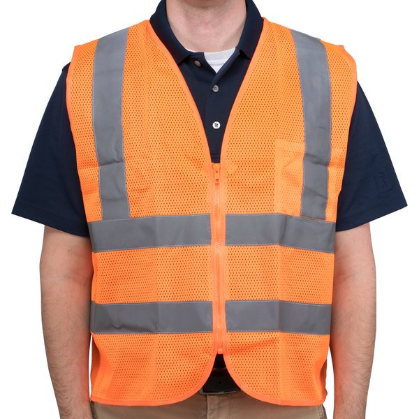 Orange Class 2 High Visibility Safety Vest - Medium