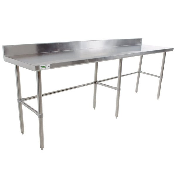 Regency X Gauge Stainless Steel Commercial Open Base - Stainless steel open base work table