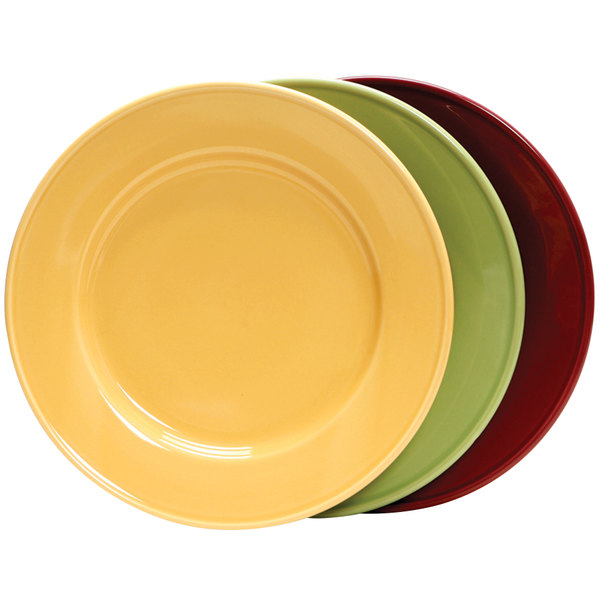 "Tuxton DYA-074 DuraTux 7 1/2"" Assorted Colors China Plate - 36/Case Main Image 1"