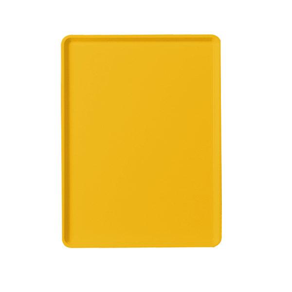"Cambro 1220D504 12"" x 20"" Mustard Dietary Tray - 12/Case"