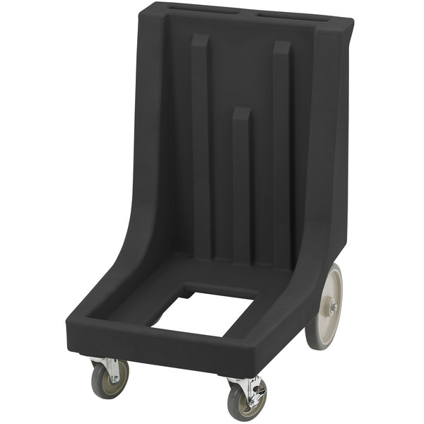 Cambro CD300HB Black Camdolly for Cambro Camcarriers and Camtainers with Handle & Rear Easy Wheels Main Image 1