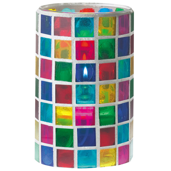 """Sterno Products 80200 3 1/8"""" x 5"""" Mosaic Candle Liquid Candle Holder"""