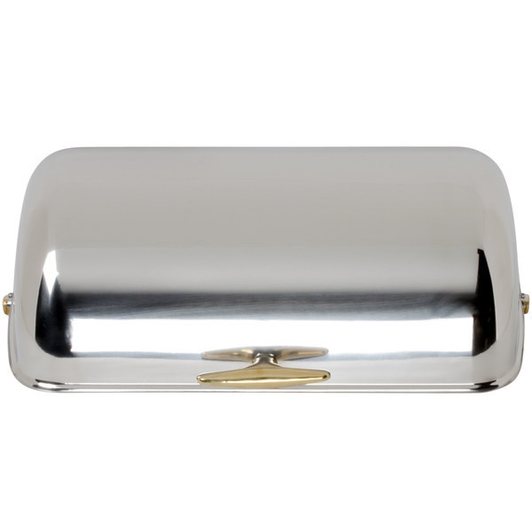 Choice 8 Qt. Supreme Full Size Roll Top Gold Trim Chafer Cover