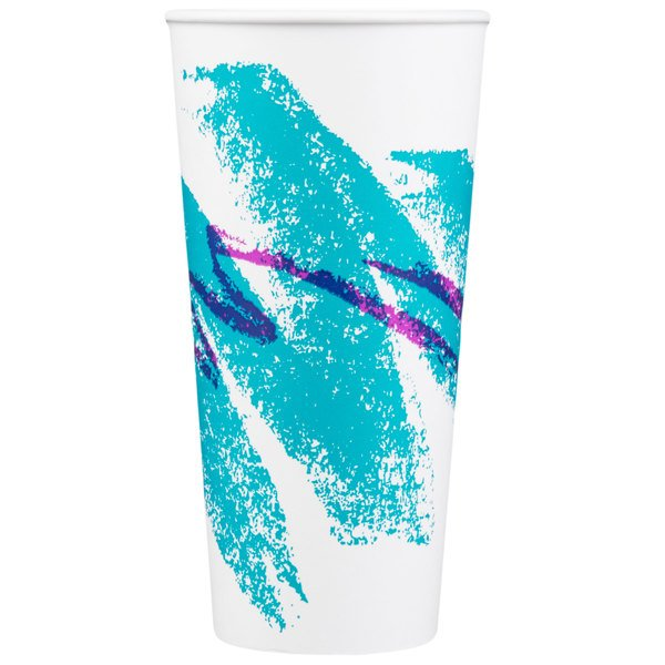Dart Solo RSP22P-00055 Jazz 22 oz. Poly Paper Cold Cup  - 1000/Case