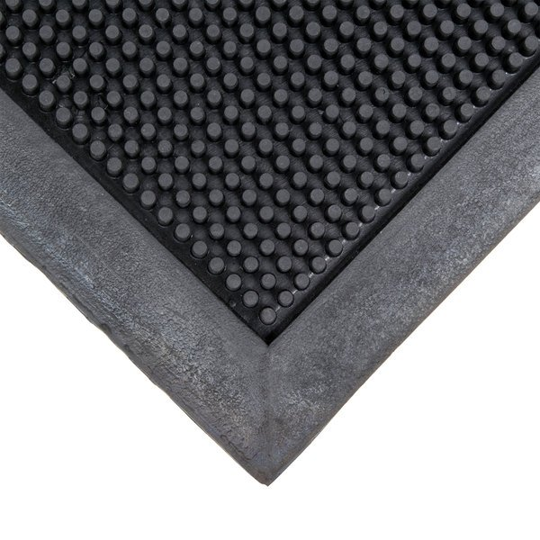 "Cactus Mat 35-3672 Finger Top 36"" x 72"" Black Anti-Fatigue Rubber Entrance Mat - 5/8"" Thick"