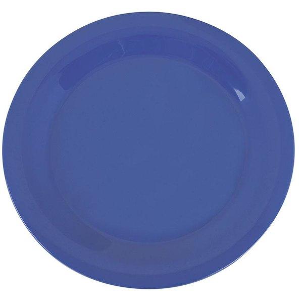 "Carlisle 3300214 Sierrus 10 1/2"" Ocean Blue Narrow Rim Melamine Plate - 12/Case"
