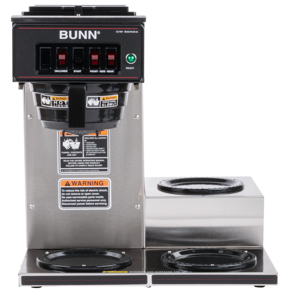 Bunn 12950.0112 CWT15-3 12 Cup Automatic Coffee Brewer with 3 Lower Warmers
