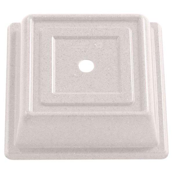 """Cambro 85SFVS380 Versa Camcover 8 1/2"""" Ivory Square Plate Cover - 12/Case"""