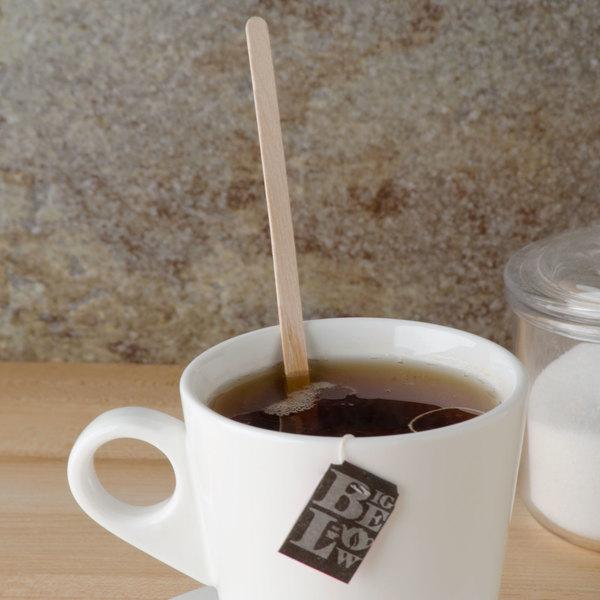 "Royal Paper R825 7 1/2"" Eco-Friendly Wood Coffee Stirrer - 5000/Case"