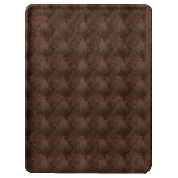 "Cambro 1222D301 12"" x 22"" Dark Basketweave Wood-Look Dietary Tray - 12/Case"