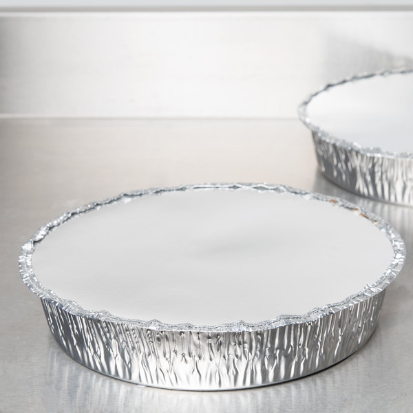 "Durable Packaging L260-250 Board Lid for 10"" Round Foil Take Out Pan - 250/Case Main Image 8"