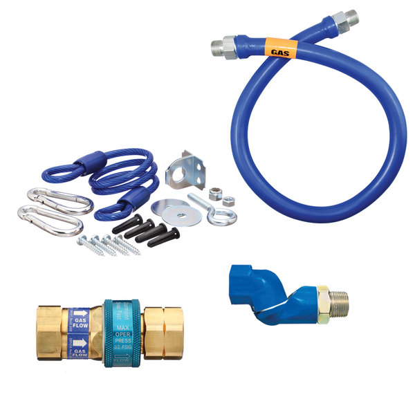"""Dormont 16100BPQSR48 SnapFast® 48"""" Gas Connector Kit with One Swivel and Restraining Cable - 1"""" Diameter"""