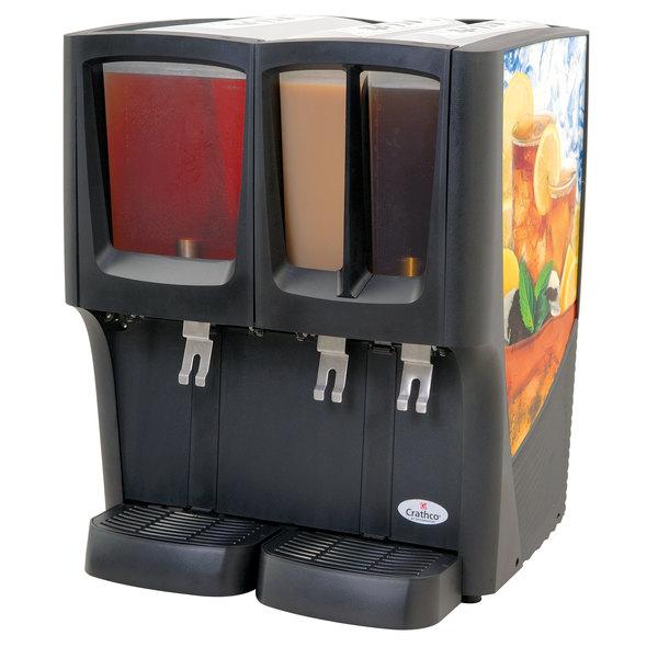 Crathco G-Cool Focus Flavor C-3D-16 Triple Bowl Premix Cold Beverage Dispenser with (1) 5 Gallon Hopper and (2) 2.4 Gallon Hoppers
