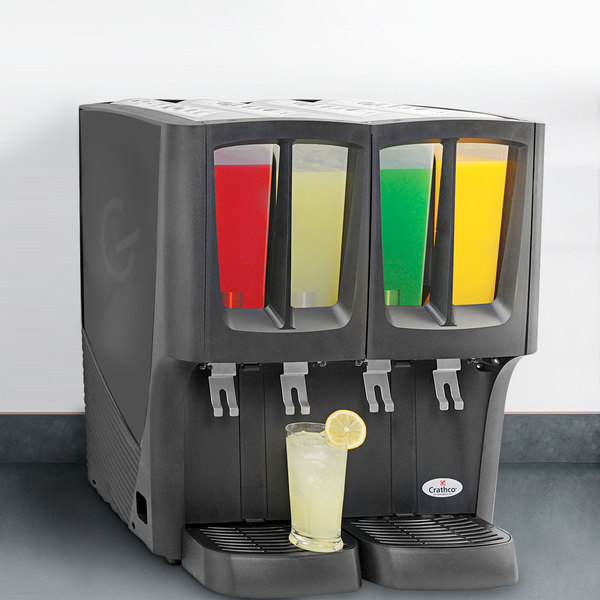 Crathco G-Cool Mini Quattro C-4D-16 Quadruple 2.4 Gallon Bowl Premix Cold Beverage Dispenser