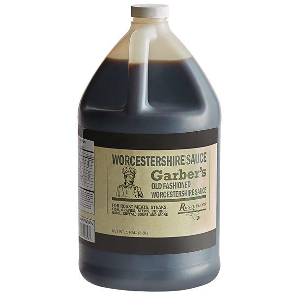 Regal Worcestershire Sauce 1 Gallon Bulk Container - Garber's Brand - 4/Case