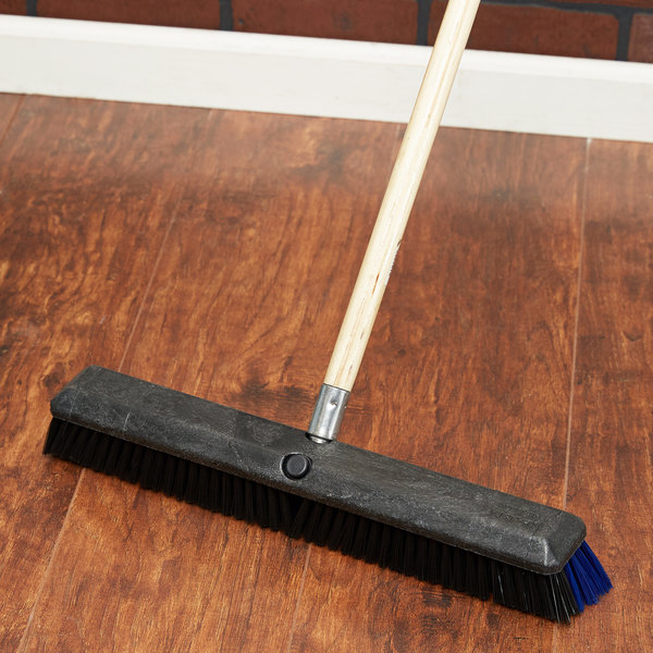 "Carlisle 4188000 Sparta Spectrum Omni Sweep 18"" Push Broom Head with Black and Blue Unflagged Bristles Main Image 4"