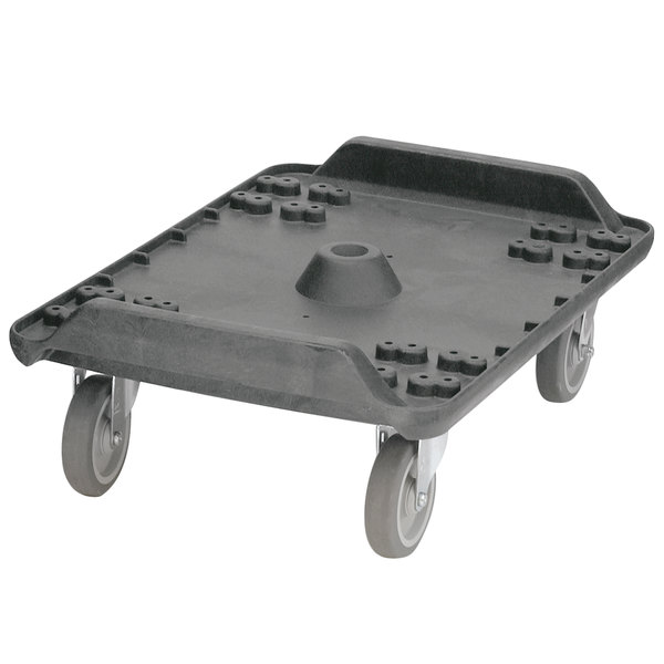 "Carlisle MY41003 Cateraide Black Dolly with 5"" Standard Casters for MY400 End Loading Pan Carriers"