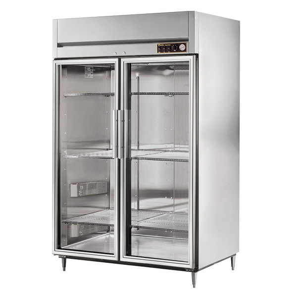 True STR2H-2G Specification Series Glass Door Two Section Reach In Heated Holding Cabinet
