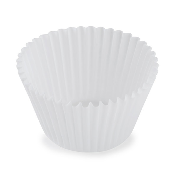White Fluted Baking Cup 2 1/4 inch x 1 7/8 inch - 10000/Case