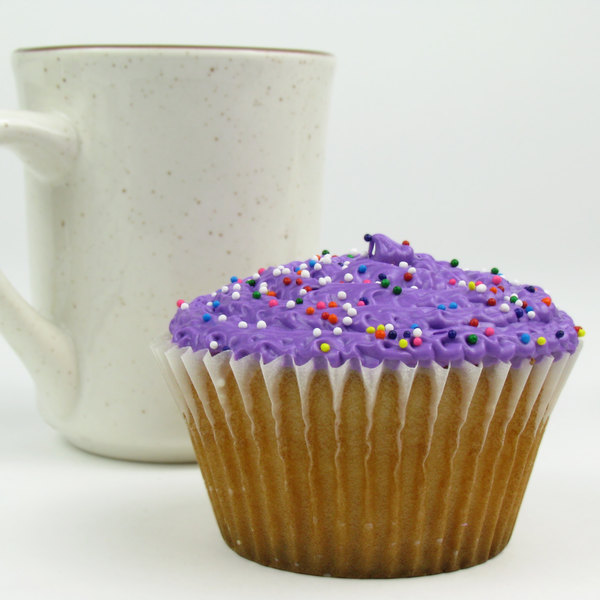 """White Fluted Baking Cup 2 1/4"""" x 1 7/8"""" - 10000/Case"""
