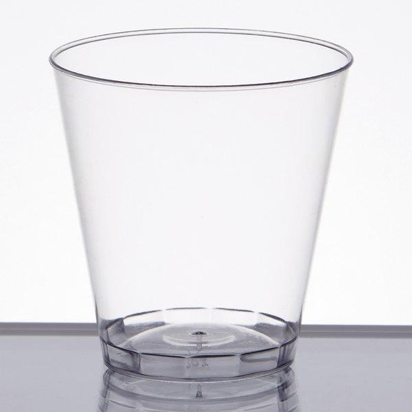 2500 Per Case Fine Line Settings Inc 401-CL Fineline 401 Clear Plastic Shot Glass,1 Ounce