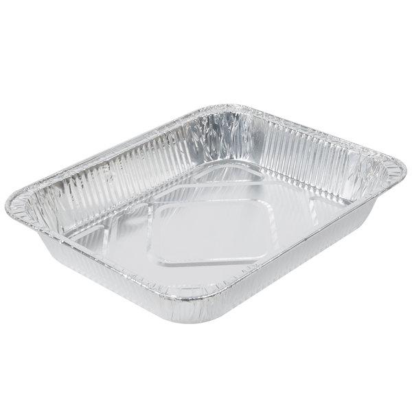 Choice 1/2 Size Foil Steam Table Pan Medium Depth - 20/Pack