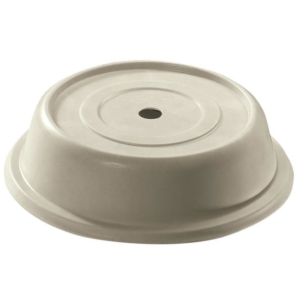 "Cambro 91VS101 Versa Camcover 9 1/8"" Antique Parchment Round Plate Cover - 12/Case Main Image 1"