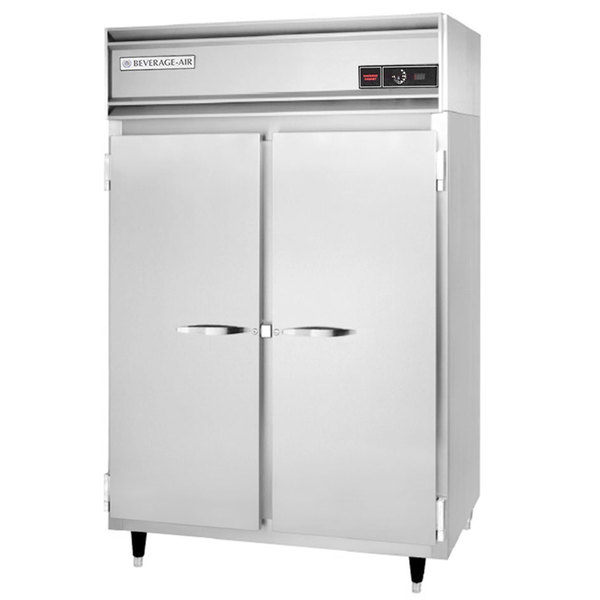Beverage-Air PH2-1S Two Section Solid Door Reach-In Heated Holding Cabinet - 46.5 cu. ft., 3000W Main Image 1