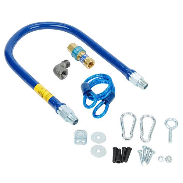"Dormont 1650BPQR36 SnapFast® 36"" Gas Connector Kit with Restraining Cable - 1/2"" Diameter"