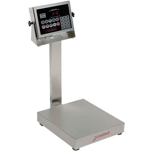 Cardinal Detecto EB-60-210 60 lb. Electronic Bench Scale with 210 Indicator and Tower Display, Legal for Trade
