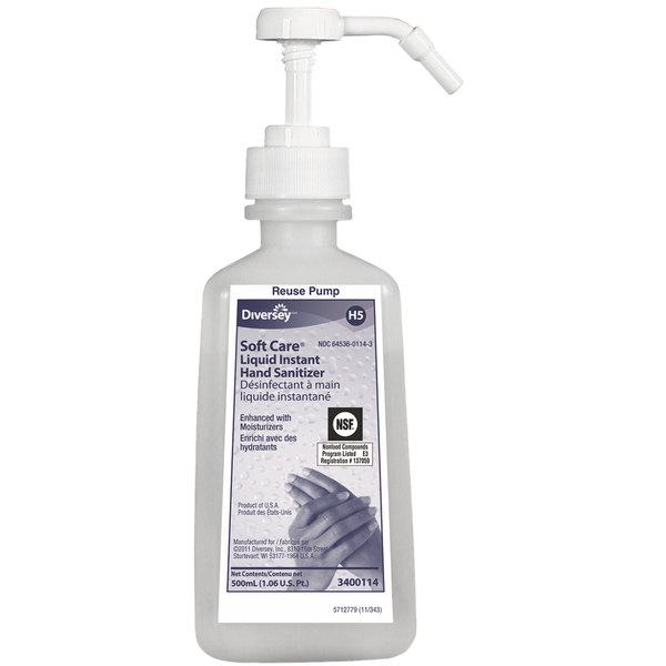 Diversey 3400114 Soft Care 500 mL Liquid Instant Hand Sanitizer - 12/Case