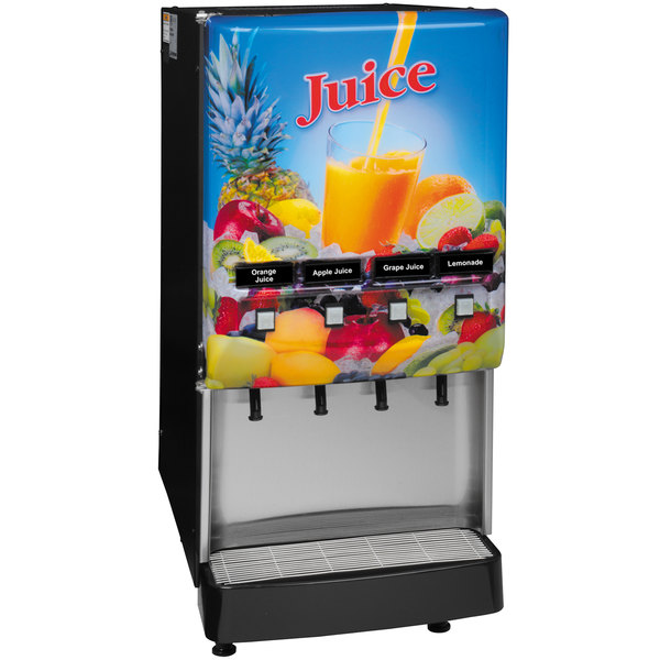 Bunn 37300.0004 JDF-4S LD 4 Flavor Cold Beverage Juice Dispenser with Lit Door Main Image 1