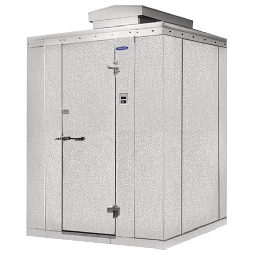"Rt. Hinged Door Nor-Lake KODB812-C Kold Locker 8' x 12' x 6' 7"" Outdoor Walk-In Cooler"