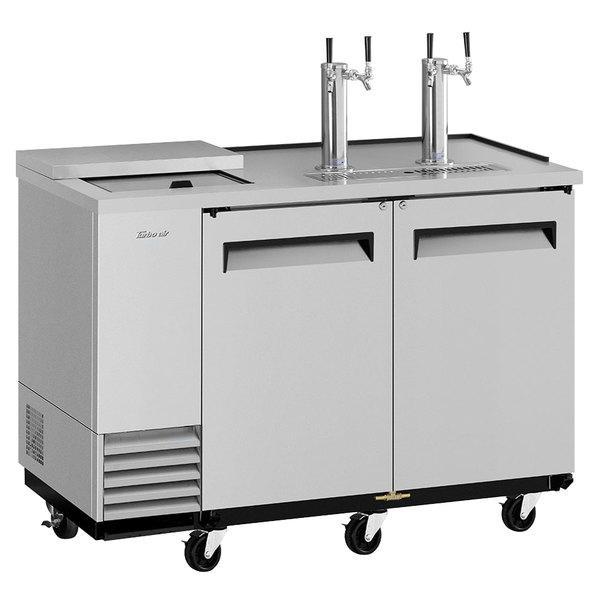 Turbo Air TCB-2SD-N6 (2) Double Tap Club Top Kegerator Beer Dispenser - Stainless Steel, (2) 1/2 Keg Capacity Main Image 1