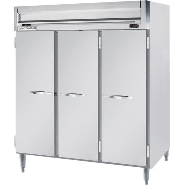 "Beverage-Air HFPS3-5S Horizon Series 78"" Solid Door All Stainless Steel Reach-In Freezer"