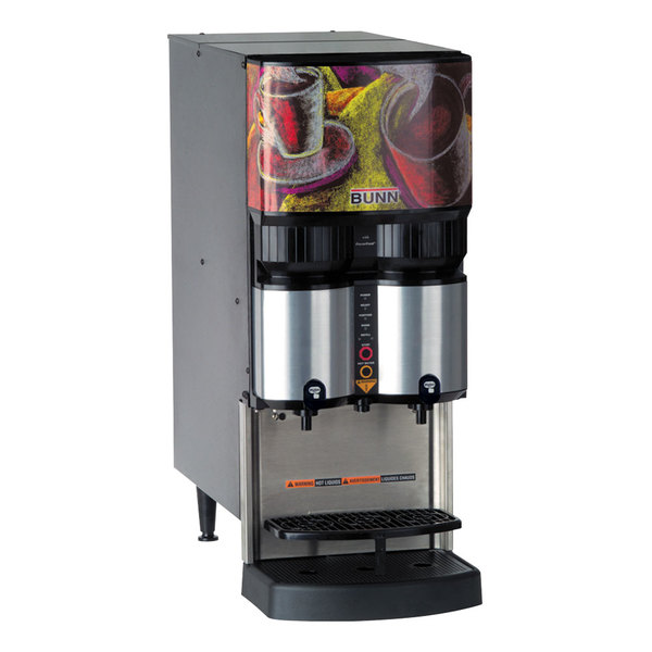 Bunn 36500.0026 LCA-2 PC Ambient Liquid Coffee Dispenser with Portion Control and Scholle QC Connector - 120V