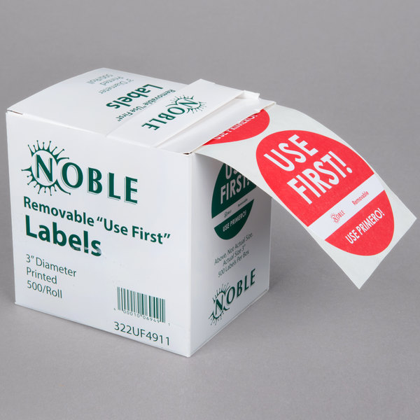 1 Inch Round 500 Labels on a Roll Beef Deli Cafeteria Grocery Stickers