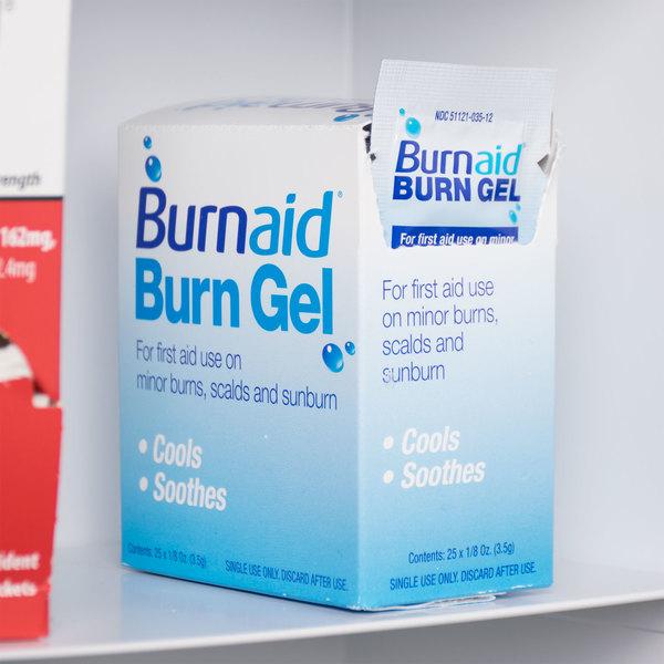 Lot of 25 Burn Free Gel in Dispenser Box First Aid Kits