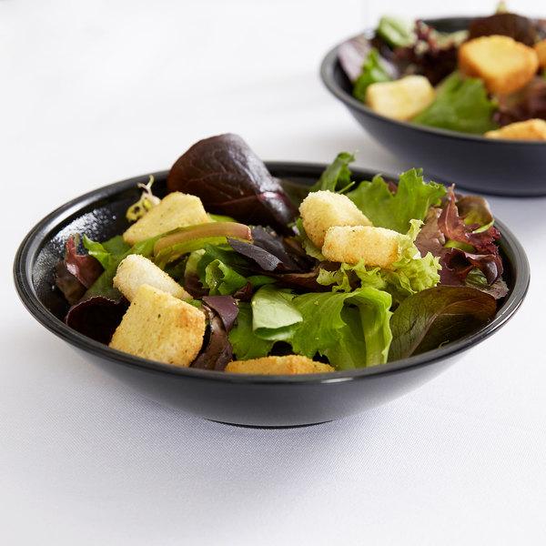Cambro SB60110 Black Budget Salad Bowl 12.6 oz. - 72/Case