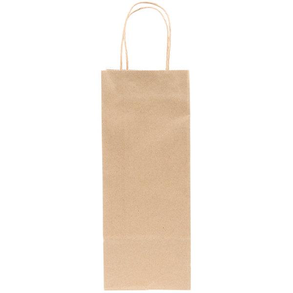 Duro Vino 5 1 4 X 3 13 8 Natural Kraft Paper Wine Ping Bag With Handles 250 Bundle